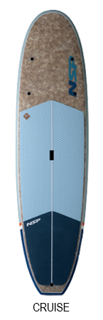 "NSP CRUISE ;COCOMAT ;10'2""x32""x4 7/8""  205.4L  ;Natural Blue"