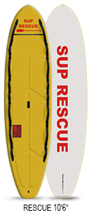 "TRUEWAVE RESCUE ;SOFT ;10'6"" x 32""x 4 3/4""  220L ;YELLOW/WHITE"