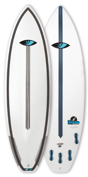 "SHARPEYE SURFTECH ;disco cheater ;6'4""x 20.75""x 2.75""  38.5L ;"
